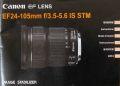 キヤノン EF24−105mm 取り説・使用書