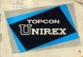 トプコン UNIREX 英文 取り説・使用書