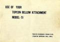 トプコン BELLOW model-IV 英文 取り説・使用書