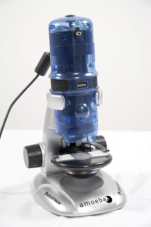 ※箱つぶれ最終処分品 CELESTRON  Amoeba Digital-Blue 顕微鏡 CE44325