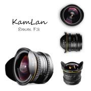 KAMLAN (カムラン)8mm F3.0 フィッシュアイ 各社ミラーレスカメラ用 ※現在品切れ、納期お問い合わせ下さい