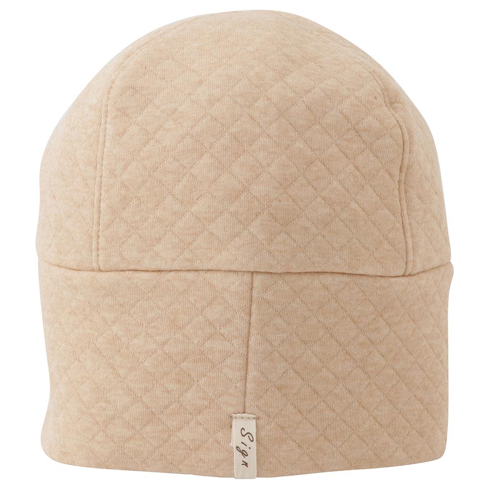 室内用帽子 日本製送料無料 オーガニックコットン中綿以外使用 キルトワッチ  3色展開 NOC日本オーガニックコットン流通機構認定商品