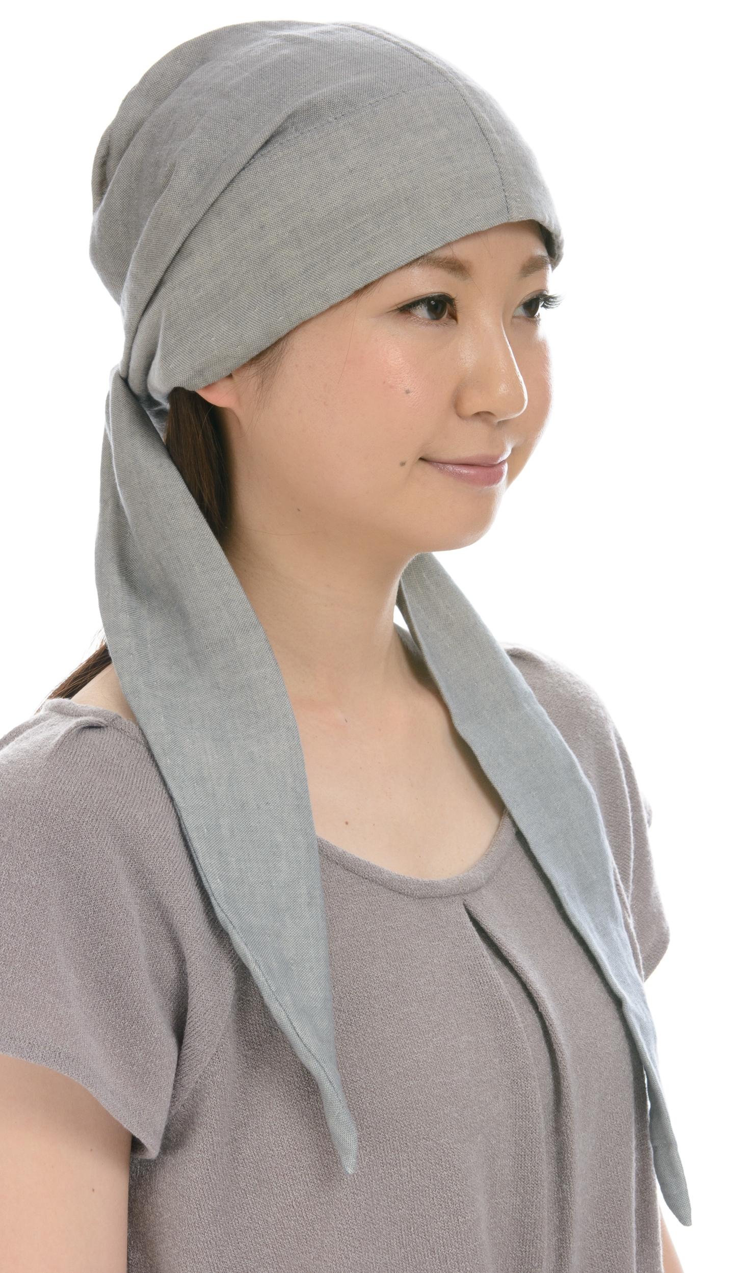 室内用帽子 送料無料オーガニックコットン エアリーなバンダナキャップ 3色展開 NOC日本オーガニックコットン流通機構認定商品 SIGN FエフLABEL