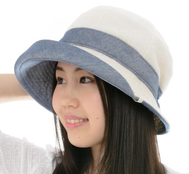 オーガニックコットン パイルの帽子リバーシブル NOC【日本オーガニックコットン流通機構】認定商品 SIGN F-LABEL