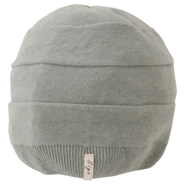 室内用帽子 送料無料 草木染ニットワッチ 3色展開  SIGN FエフLABEL