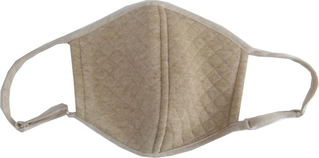 マスク 日本製送料無料 オーガニックコットン中綿以外使用 キルト立体マスク  3色展開 NOC日本オーガニックコットン流通機構認定商品