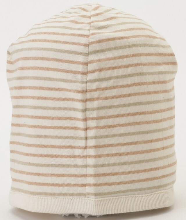 室内用帽子 日本製 送料無料限定数量☆室内用帽子 オーガニックコットン 夏用マルチボーダーワッチ  NOC日本オーガニックコットン流通機構認定商品