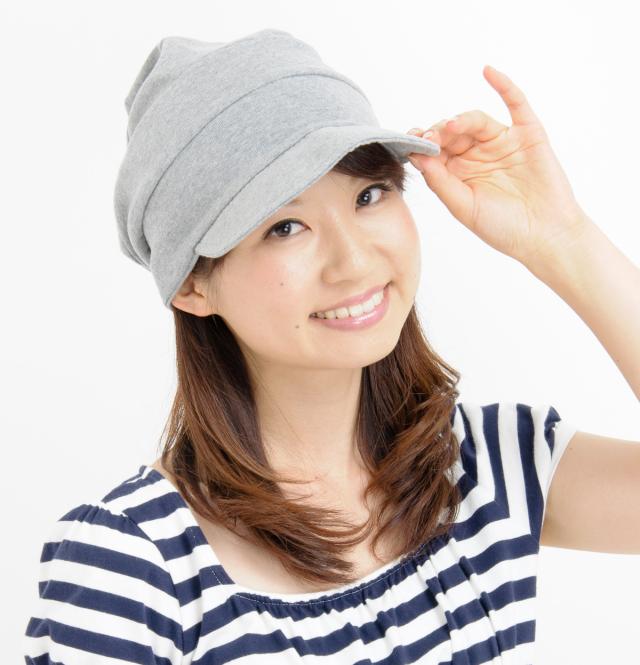 室内用帽子 送料無料オーガニックコットン 段々キャスケット 3色展開 NOC日本オーガニックコットン流通機構認定商品