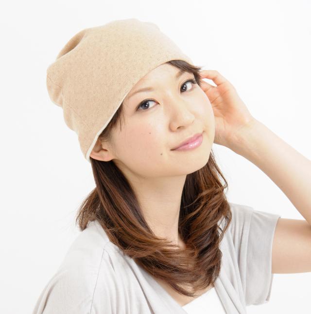 室内用帽子 送料無料 オーガニックコットン 無染色エリゼシャロット NOC日本オーガニックコットン流通機構認定商品 日本製