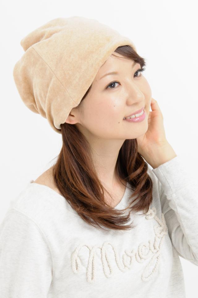 帽子 送料無料 オーガニックコットン 無染色ベルベット・スクリューワッチ ネックウォーマーにもなる2WAY NOC日本オーガニックコットン流通機構 認定商品 日本製