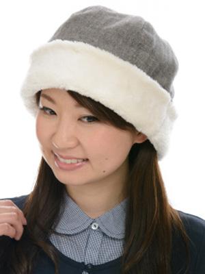 ワッチ あったかシリーズ オーガニックコットン ウール混へリンボーンボアワッチ 2色展開 NOC日本オーガニックコットン流通機構認定商品 SIGN FエフLABEL