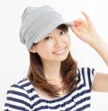 送料無料・室内用・ニット帽子/オーガニックコットン・段々キャスケット 3色展開 NOC(日本オーガニックコットン流通機構)認定商品