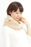 オーガニックコットン・無染色・ボアスヌード(ねじりタイプ) 2色展開。NOC(日本オーガニックコットン流通機構)認定商品 日本製