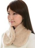 オーガニックコットン・無染色・ボア襟マフ 2色展開。NOC(日本オーガニックコットン流通機構)認定商品 日本製