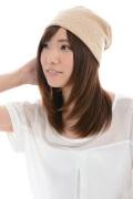 送料無料・室内用・ニット帽子/オーガニックコットン・裏毛シングルビーニー・2色展開 NOC(日本オーガニックコットン流通機構)認定商品 日本製