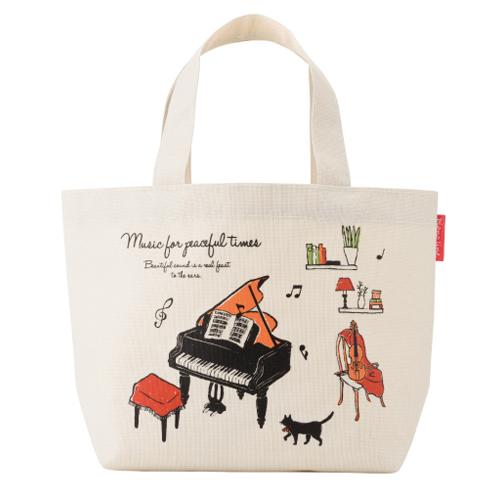 Piano line ミディアムトート アラモード ※お取り寄せ商品 引き出物 記念品 音楽雑貨 音符 ピアノモチーフ ト音記号 ピアノ雑貨