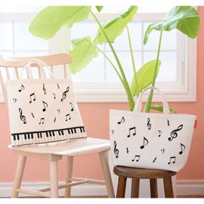 ピアノライン ボタンで2wayトートバッグ(マーチ) ※お取り寄せ商品 引き出物 記念品  【音楽雑貨 音符・ピアノモチーフ】ト音記号 ピアノ雑貨c