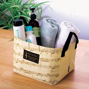 グラーヴェ 収納ボックス ※お取り寄せ商品 引き出物 記念品 音楽雑貨 音符 ピアノモチーフ ト音記号 ピアノ雑貨