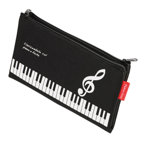 Piano line 4ポケットペンケース(ト音記号)※お取り寄せ商品 引き出物 記念品 音楽雑貨 音符 ピアノモチーフ ト音記号 ピアノ雑貨