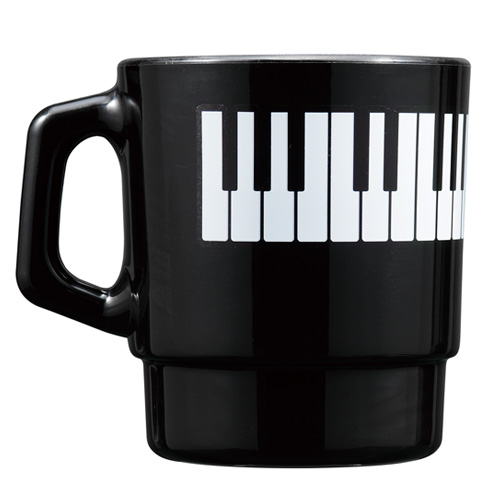 Piano line スタッキングプラマグ ☆※お取り寄せ商品 【音楽雑貨 音符・ピアノモチーフ】ト音記号 ピアノ雑貨