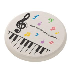 Piano line 珪藻土コースター ※お取り寄せ商品 引き出物 記念品 音楽雑貨 音符 ピアノモチーフ ト音記号 ピアノ雑貨