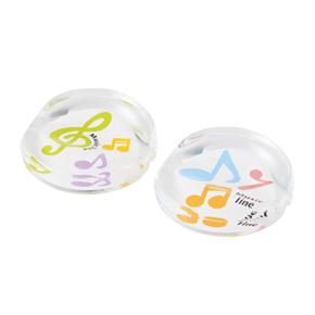Music line 箸置き2個組(カラフル音符) ※お取り寄せ商品 引き出物 記念品 音楽雑貨 音符 ピアノモチーフ ト音記号 ピアノ雑貨