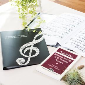 グラーヴェ クリアブック ※お取り寄せ商品 【音楽雑貨 音符・ピアノモチーフ】ト音記号 ピアノ雑貨