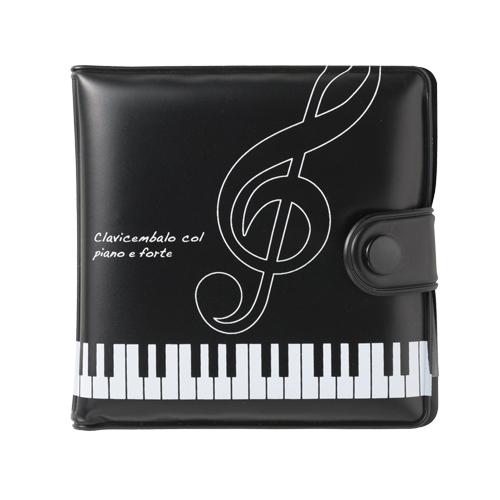 ピアノライン ビニールウォレット(ト音記号) ※お取り寄せ商品 引き出物 記念品  【音楽雑貨 音符・ピアノモチーフ】ト音記号 ピアノ雑貨c