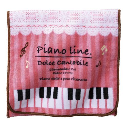 Piano line ポケットタオルねこ ※お取り寄せ商品 引き出物 記念品 音楽雑貨 音符 ピアノモチーフ ト音記号 ピアノ雑貨 コンクールドレス