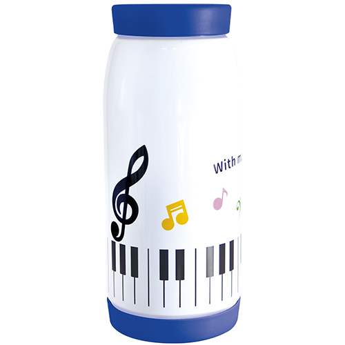 Piano line 真空ステンレスボトル360ml カラフル音符 ※お取り寄せ商品 引き出物 記念品 音楽雑貨 音符 ピアノモチーフ ト音記号 ピアノ雑貨