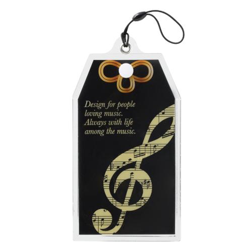 グラーヴェ お守りマスクケース ※お取り寄せ商品 引き出物 記念品 音楽雑貨 音符 ピアノモチーフ ト音記号 ピアノ雑貨