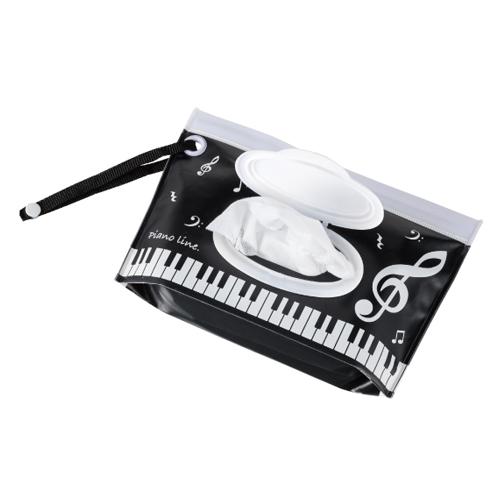 Piano line ウェットティッシュケース(音符) ※お取り寄せ商品 引き出物 記念品 音楽雑貨 音符 ピアノモチーフ ト音記号 ピアノ雑貨