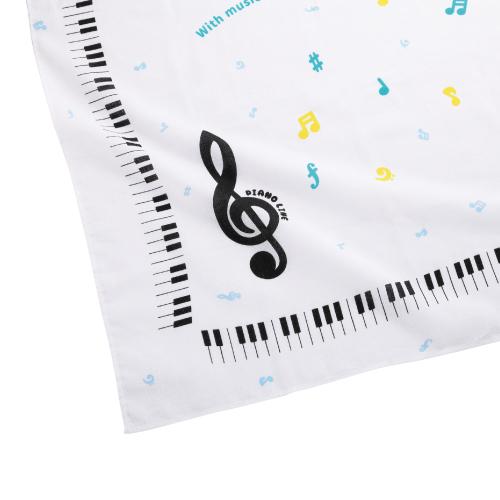 Piano line バンダナ(カラフル音符) ※お取り寄せ商品 引き出物 記念品 音楽雑貨 音符 ピアノモチーフ ト音記号 ピアノ雑貨