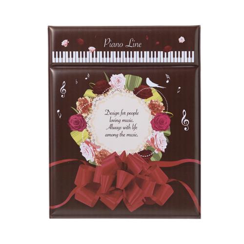 ピアノライン 折りたたみミラー(ギフト) ※お取り寄せ商品 引き出物 記念品  【音楽雑貨 音符・ピアノモチーフ】ト音記号 ピアノ雑貨c