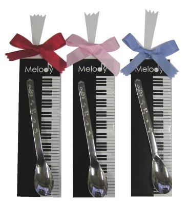 メロディー・プチギフト 音符模様がかわいい♪スプーン1本セット♪お取り寄せ商品♪【音楽雑貨 音符・ピアノモチーフ】