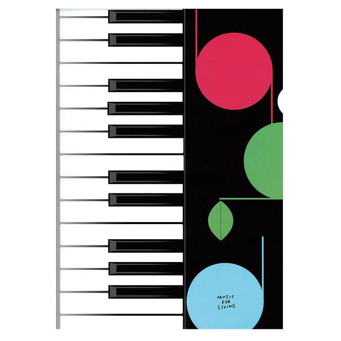 アートクリアファイル ケンバン ※お取り寄せ商品 【音楽雑貨 音符・ピアノモチーフ】ト音記号 ピアノ雑貨
