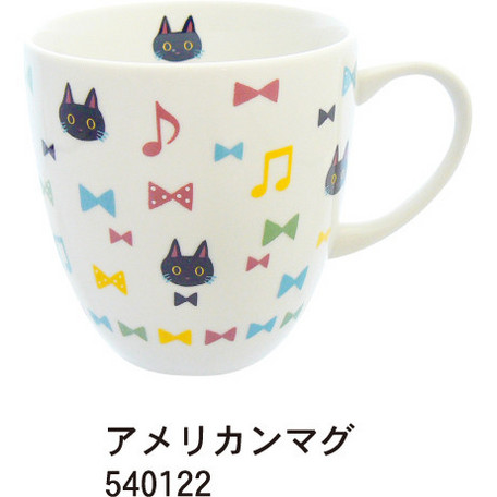NEKOにゃ-ごアメリカンマグ ※お取り寄せ商品 引き出物 記念品 音楽雑貨 音符 ピアノモチーフ ト音記号 ピアノ雑貨
