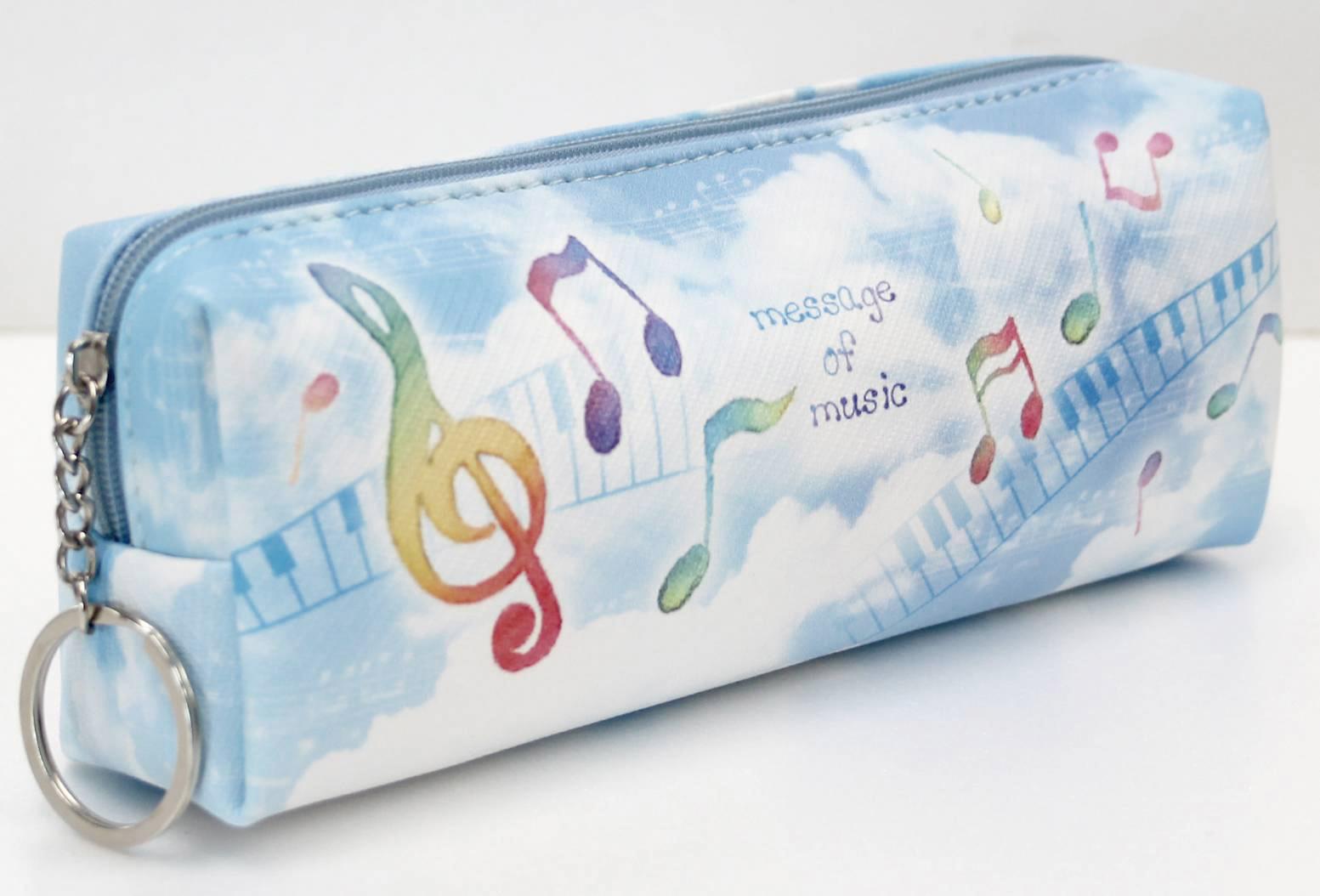 ペンケース ※お取り寄せ商品 引き出物 記念品 音楽雑貨 音符 ピアノモチーフ ト音記号 ピアノ雑貨
