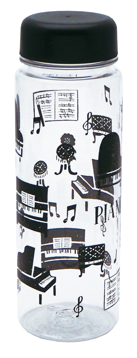 クリアボトル 500ml la la PIANO ※お取り寄せ商品 引き出物 記念品 音楽雑貨 音符 ピアノモチーフ ト音記号 ピアノ雑貨