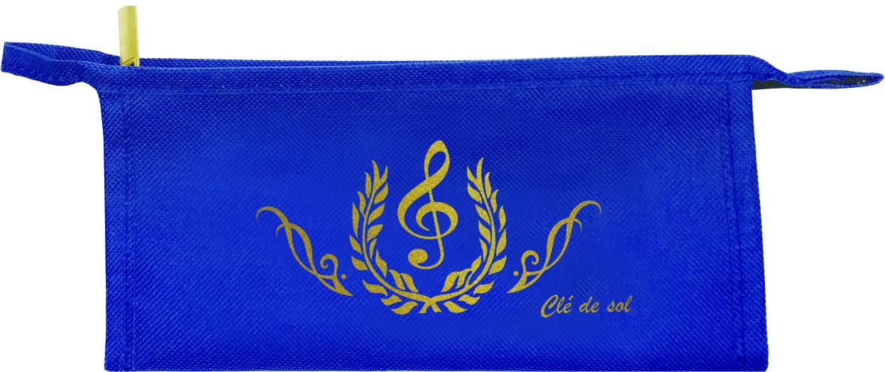 ペンポーチ Cle de sol ※お取り寄せ商品 引き出物 記念品 音楽雑貨 音符 ピアノモチーフ ト音記号 ピアノ雑貨