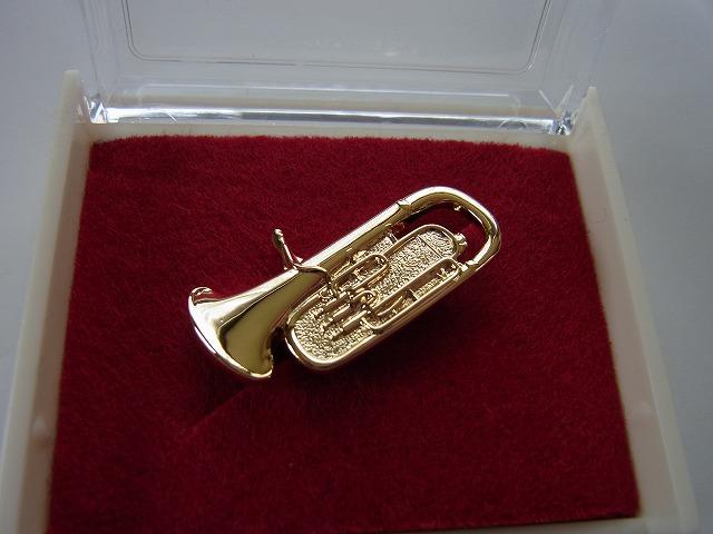 ユーフォニウムブローチ♪この商品はお取り寄せ商品です♪【記念品に最適ブローチ】吹奏楽部 ブラスバンド 記念品に