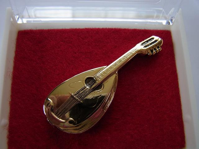 マンドリンブローチ♪この商品はお取り寄せ商品です♪【記念品に最適ブローチ】吹奏楽部 ブラスバンド 記念品に