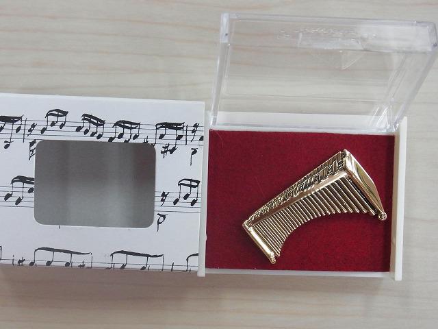 マリンバブローチ♪この商品はお取り寄せ商品です♪【記念品に最適ブローチ】吹奏楽部 ブラスバンド 記念品に
