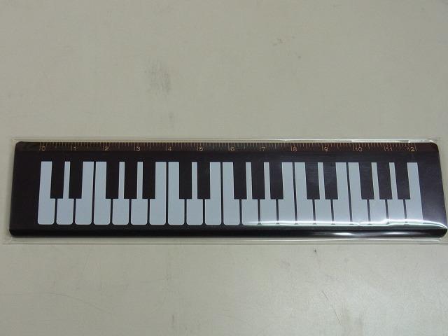 鍵盤定規♪この商品はお取り寄せ商品です♪【プレゼントに最適♪】 音楽雑貨  <br>楽譜柄 音符柄♪