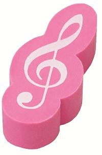 ト音記号立体消しゴム ピンク♪この商品はお取り寄せ商品です♪【ピアノ発表会】音楽会 ブラスバンド 吹奏楽部の記念品に