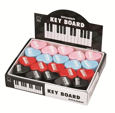 ハート消しゴム ♪※色は選べません。この商品はお取り寄せ商品です♪【ピアノ発表会】音楽会 ブラスバンド 吹奏楽部の記念品に