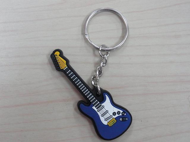 エレキギター ラバーズ キーホルダー 【ブルー】♪この商品はお取り寄せ商品です♪【発表会】ブラスバンド 吹奏楽部