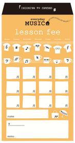 月謝袋 Everyday Music ※お取り寄せ商品 引き出物 記念品 音楽雑貨 音符 ピアノモチーフ ト音記号 ピアノ雑貨