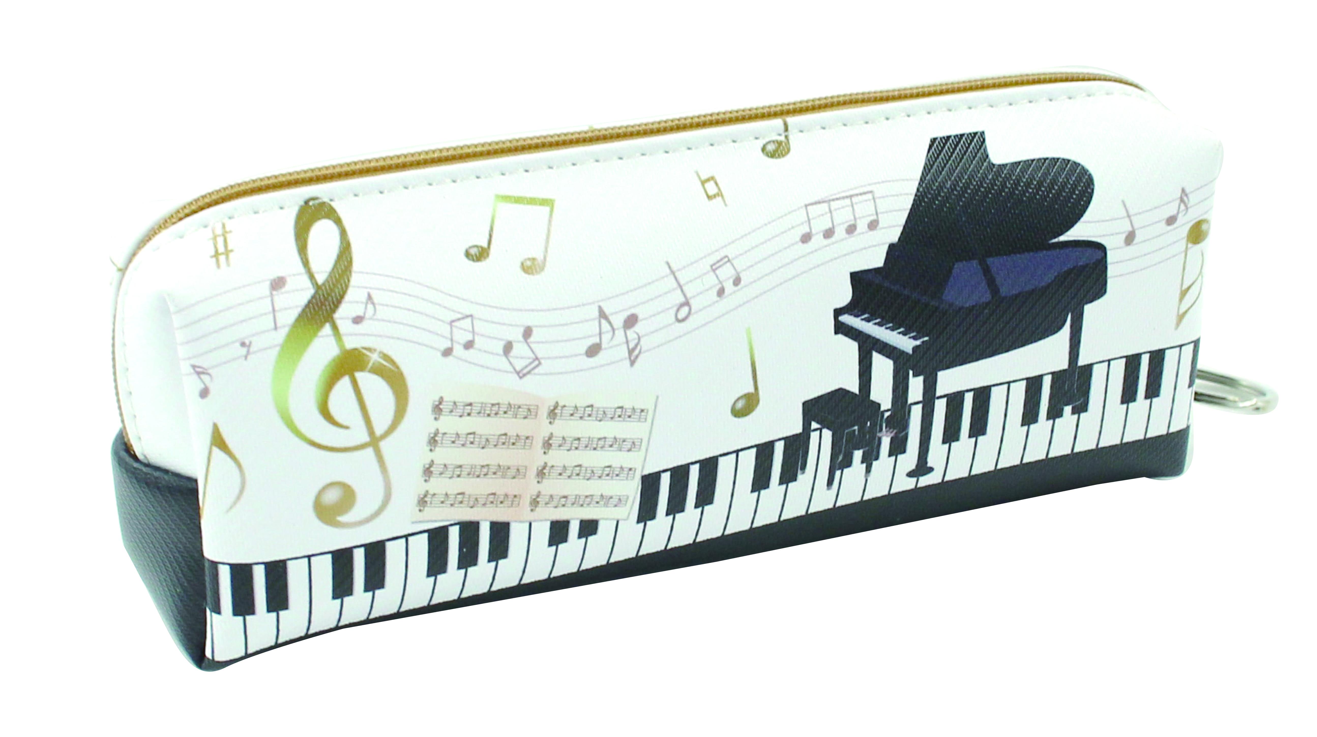 ピアノペンケース ※お取り寄せ商品 引き出物 記念品 音楽雑貨 音符 ピアノモチーフ ト音記号 ピアノ雑貨