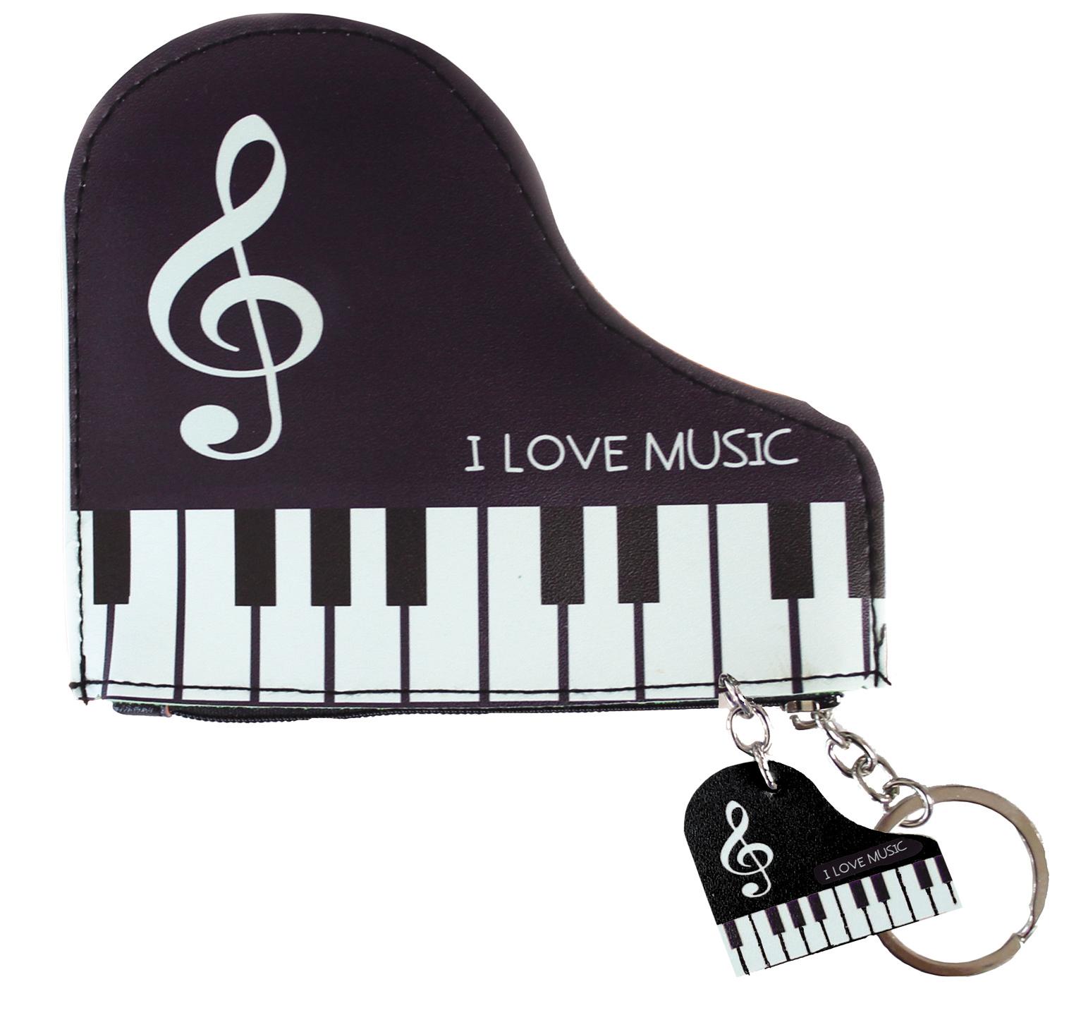 ピアノポーチ ※お取り寄せ商品 引き出物 記念品 音楽雑貨 音符 ピアノモチーフ ト音記号 ピアノ雑貨